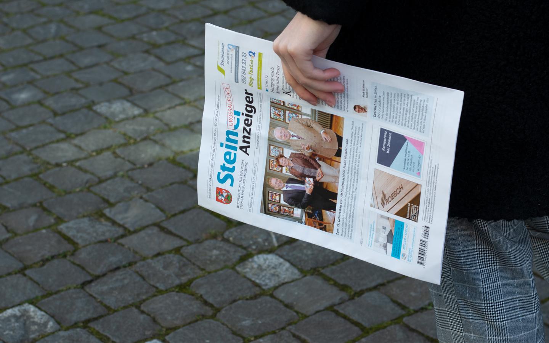 Ihr Bild in der Zeitung des Steiner Anzeigers