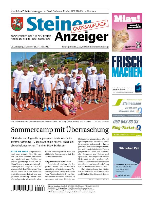Steiner Anzeiger vom 14. Juli 2020
