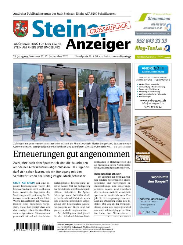 Steiner Anzeiger 22. September 2020