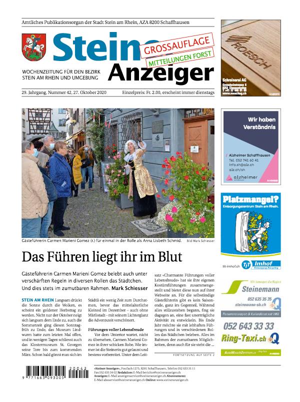 Steiner Anzeiger vom 27. Oktober 2020